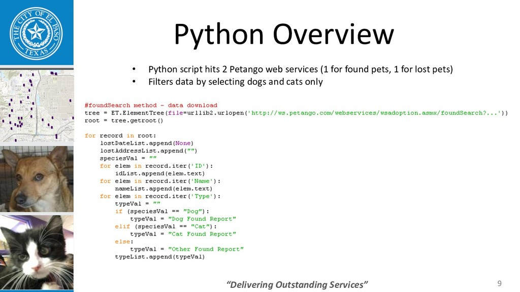 """Delivering Outstanding Services"" 9 Python Over..."