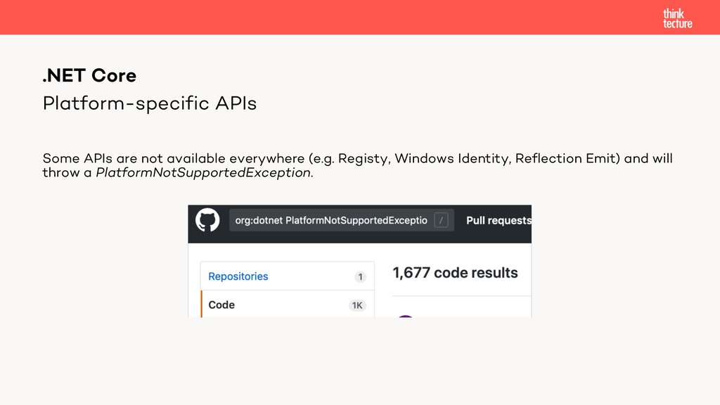 Platform-specific APIs Some APIs are not availa...