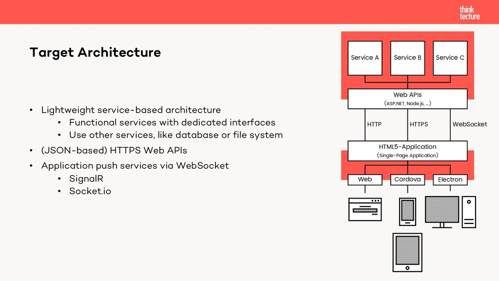 • Lightweight service-based architecture • Func...