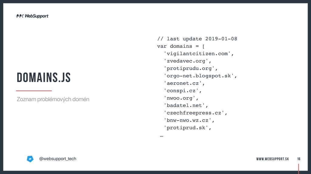 // last update 2019-01-08 var domains = [ 'vigi...