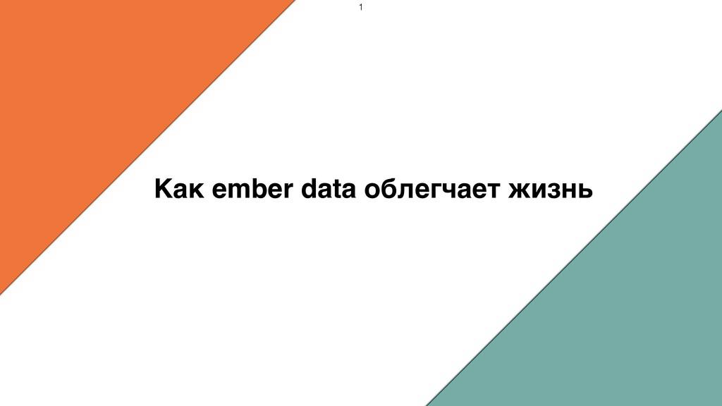 Как ember data облегчает жизнь 1