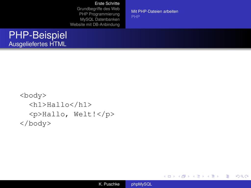 Erste Schritte Grundbegriffe des Web PHP Progra...
