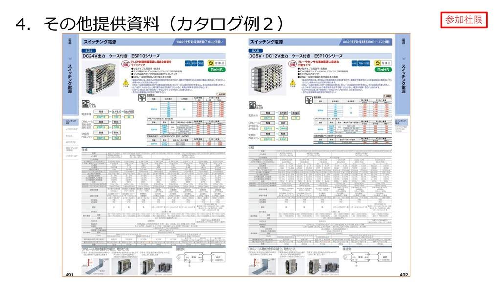 4.その他提供資料(カタログ例2) 参加社限