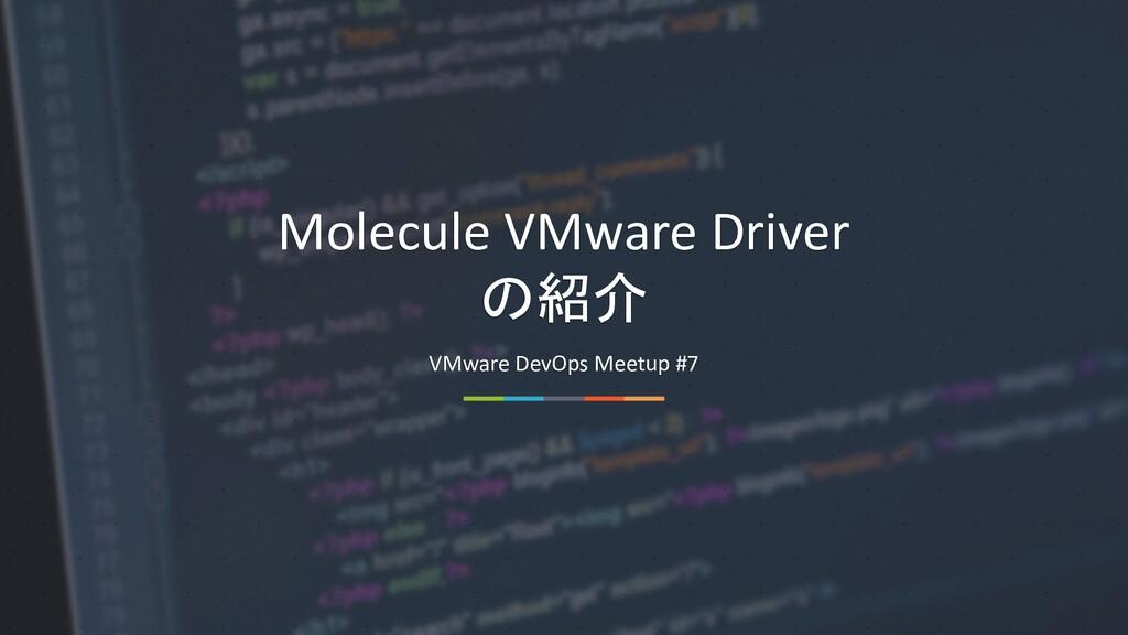 www.goodpello.com Molecule VMware Driver の紹介 VM...