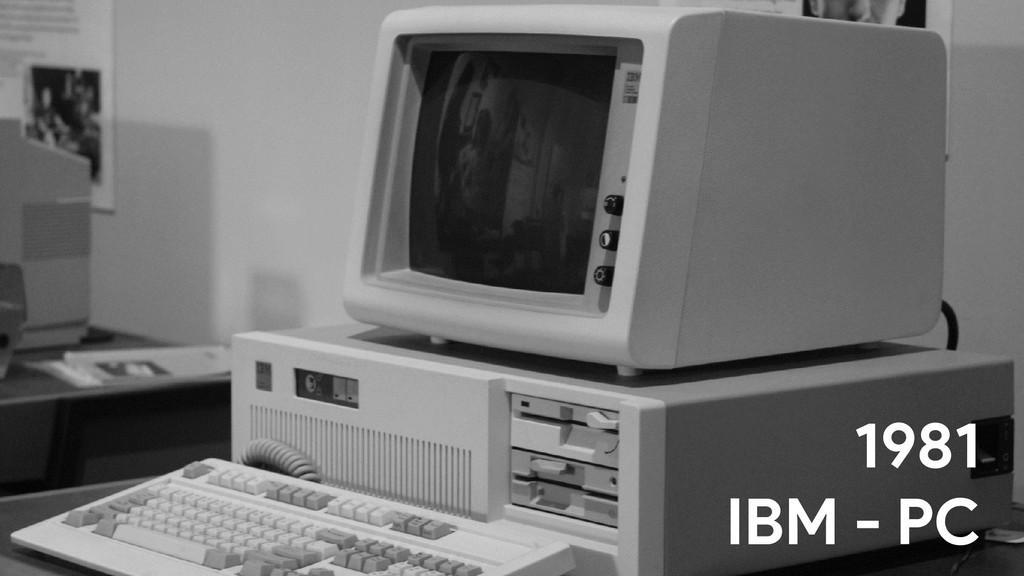 s 1981 IBM - PC