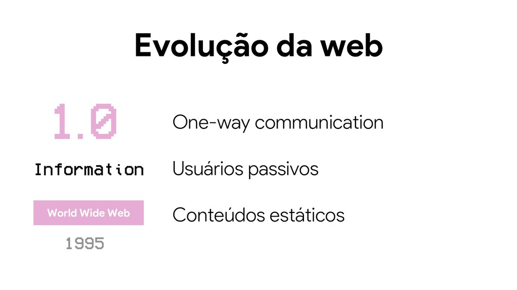 1.0 Information Evolução da web World Wide Web ...