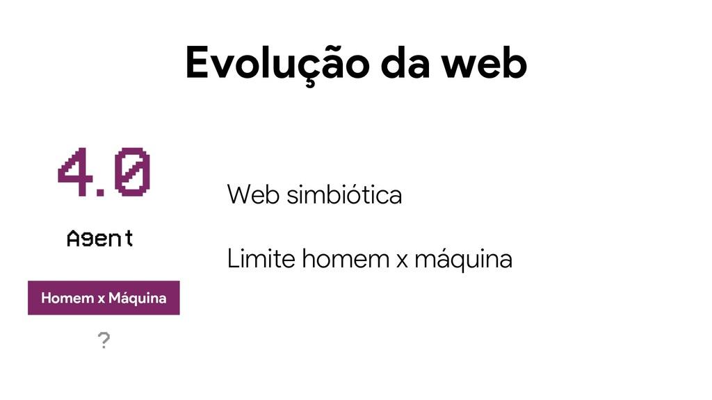 Evolução da web Web simbiótica Limite homem x m...