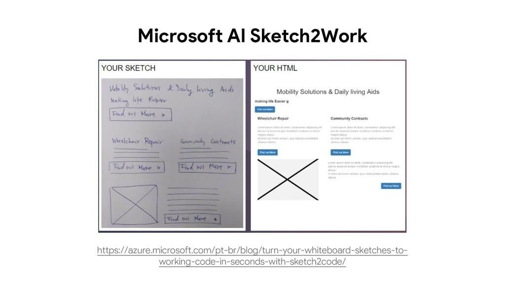 Microsoft AI Sketch2Work https://azure.microsof...