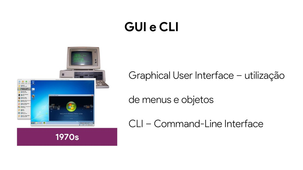 GUI e CLI 1970s Graphical User Interface – util...