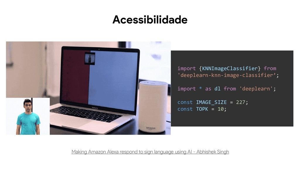 Acessibilidade Making Amazon Alexa respond to s...