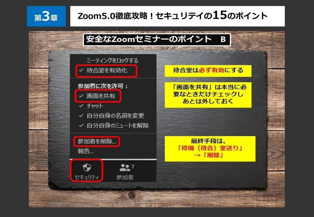 第 3章 Zoom5.0徹底攻略!セキュリテイの15のポイント