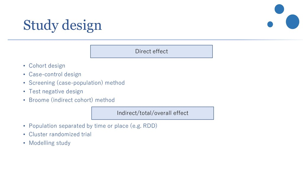 Study design • Cohort design • Case-control des...