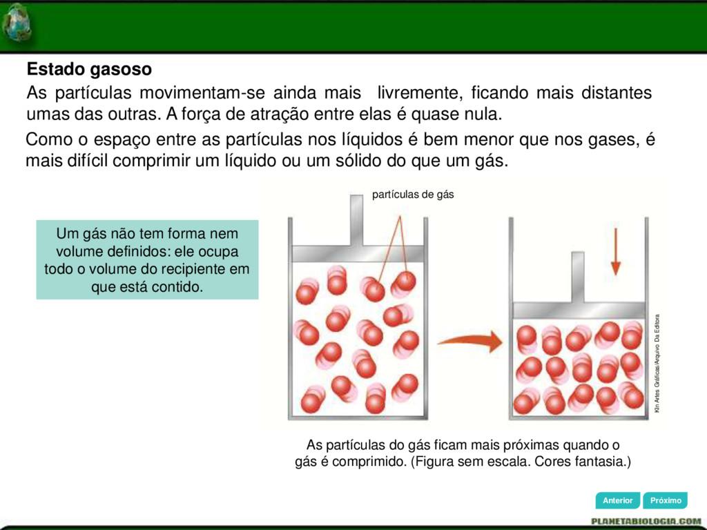 As partículas do gás ficam mais próximas quando...