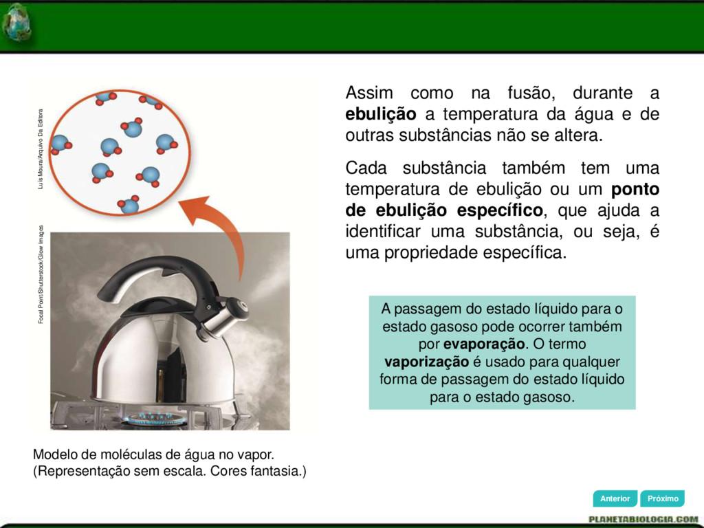 Modelo de moléculas de água no vapor. (Represen...