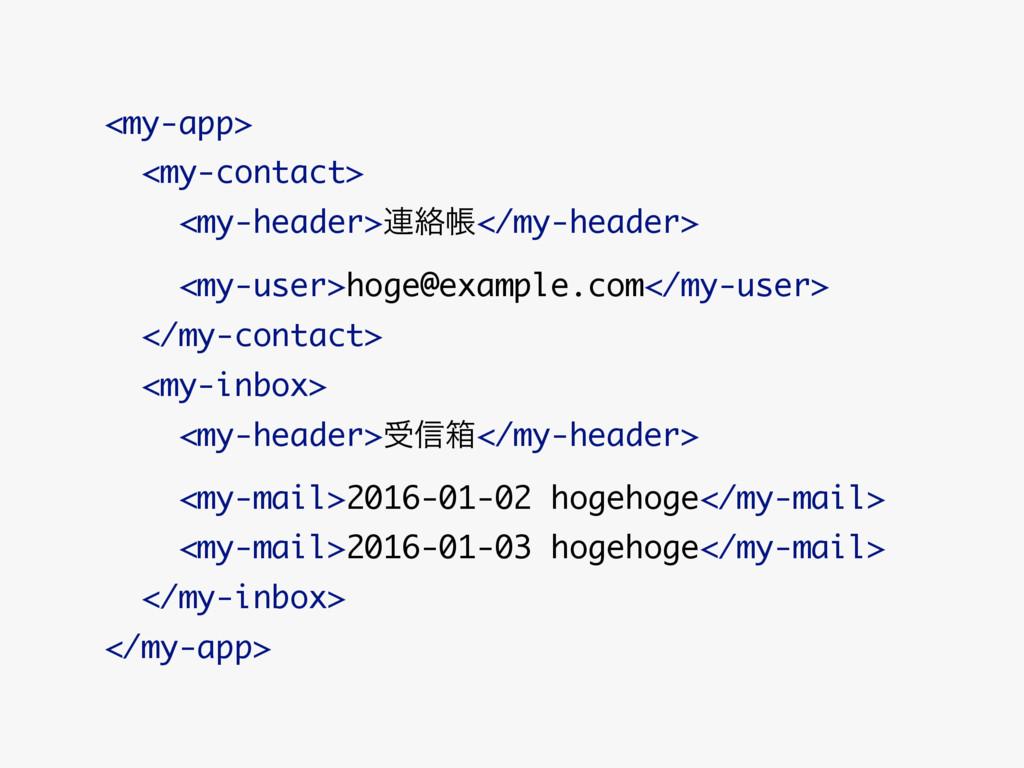 <my-app> <my-contact> <my-header>࿈བྷா</my-header...