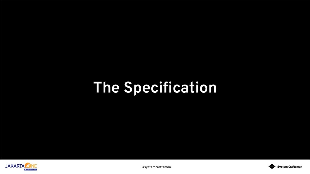 @systemcraftsman The Specification