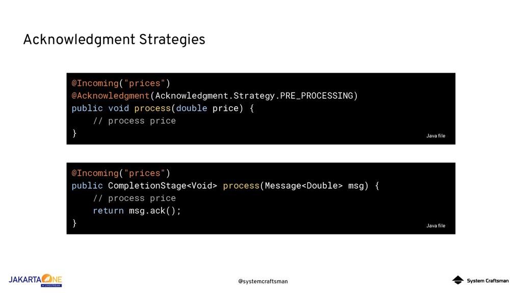 @systemcraftsman Acknowledgment Strategies @Inc...