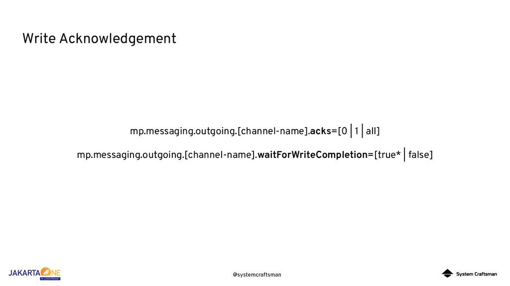 @systemcraftsman Write Acknowledgement mp.messa...