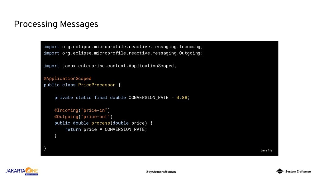 @systemcraftsman Processing Messages import org...