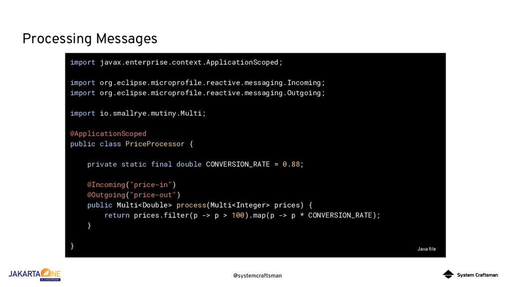 @systemcraftsman Processing Messages import jav...