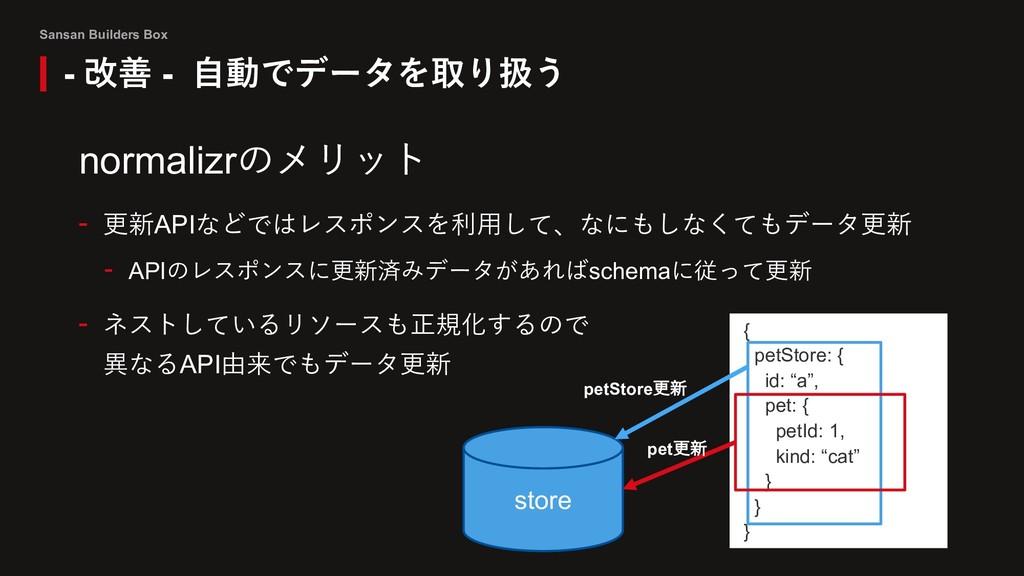 Sansan Builders Box normalizrのメリット - 更新APIなどではレ...