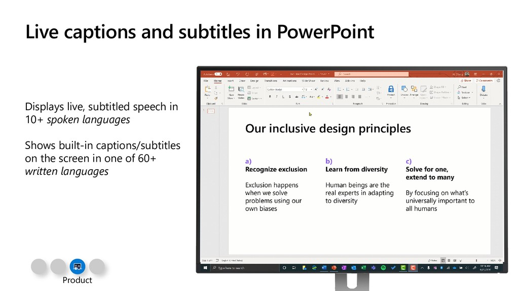 Live captions and subtitles in PowerPoint Displ...