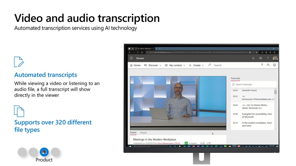 Video and audio transcription Automated transcr...