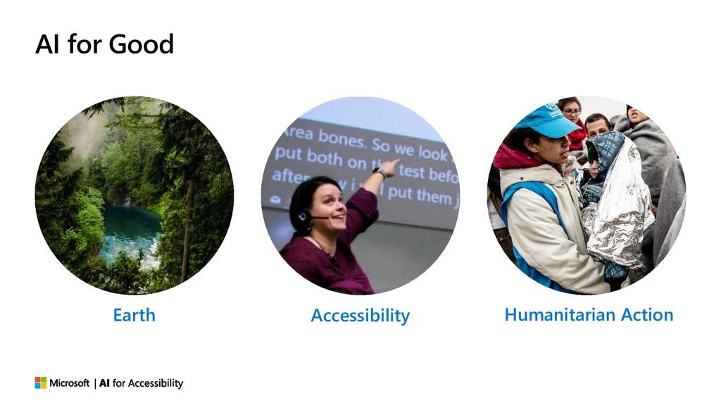 AI for Good Earth Accessibility Humanitarian Ac...