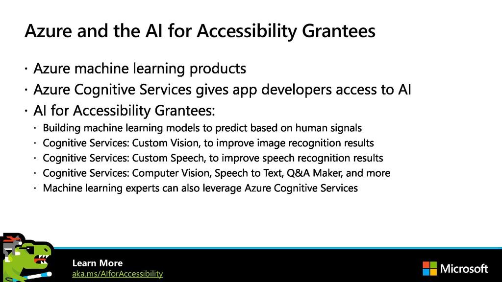 Azure and the AI for Accessibility Grantees Lea...