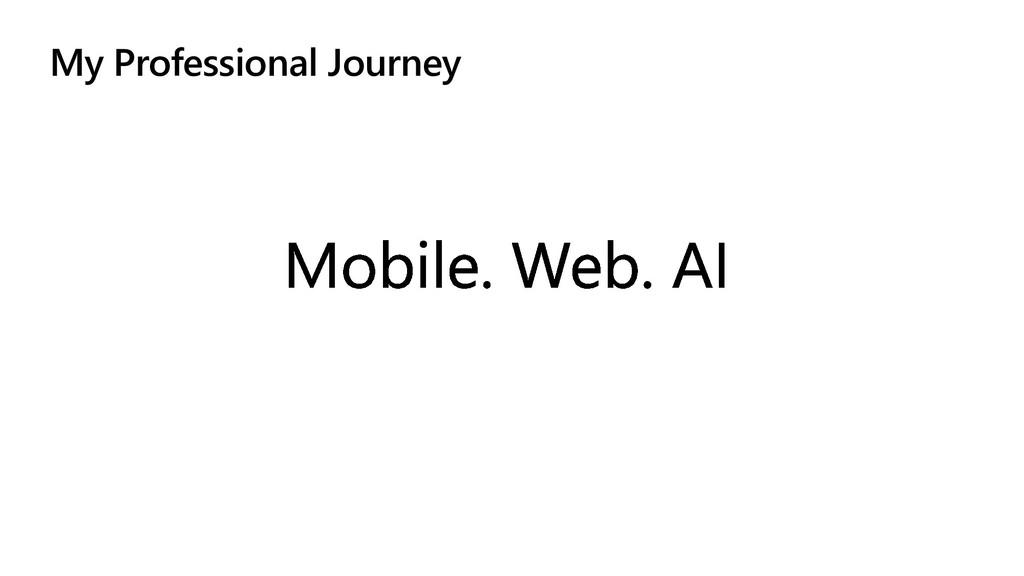My Professional Journey