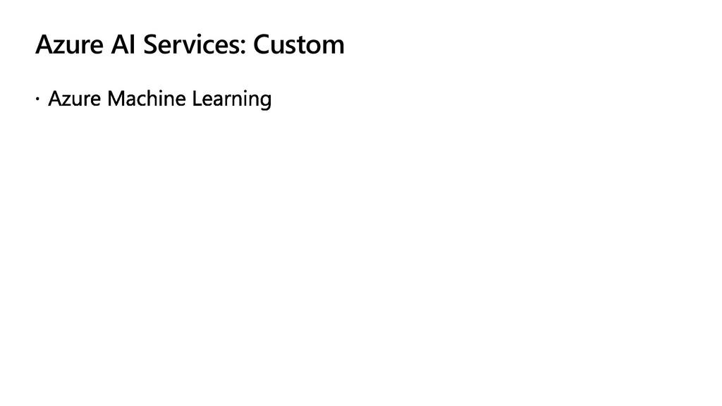 Azure AI Services: Custom