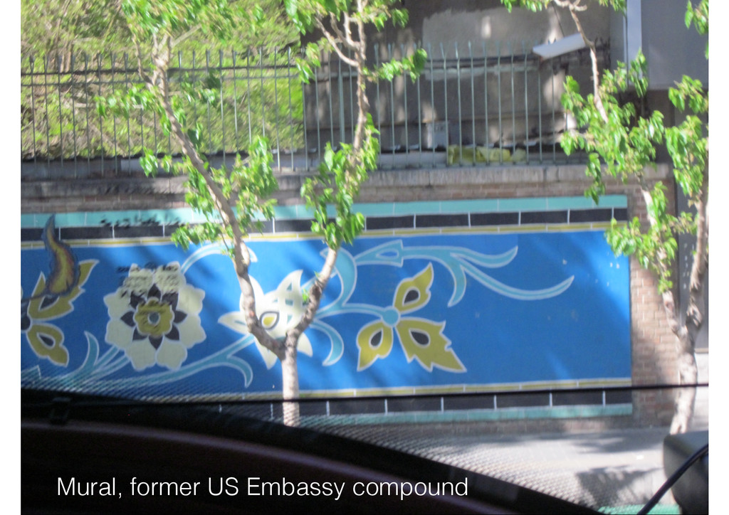Mural, former US Embassy compound