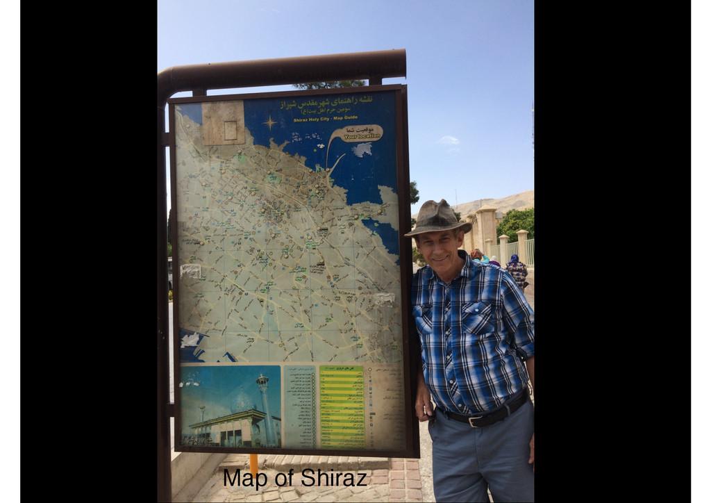 Map of Shiraz