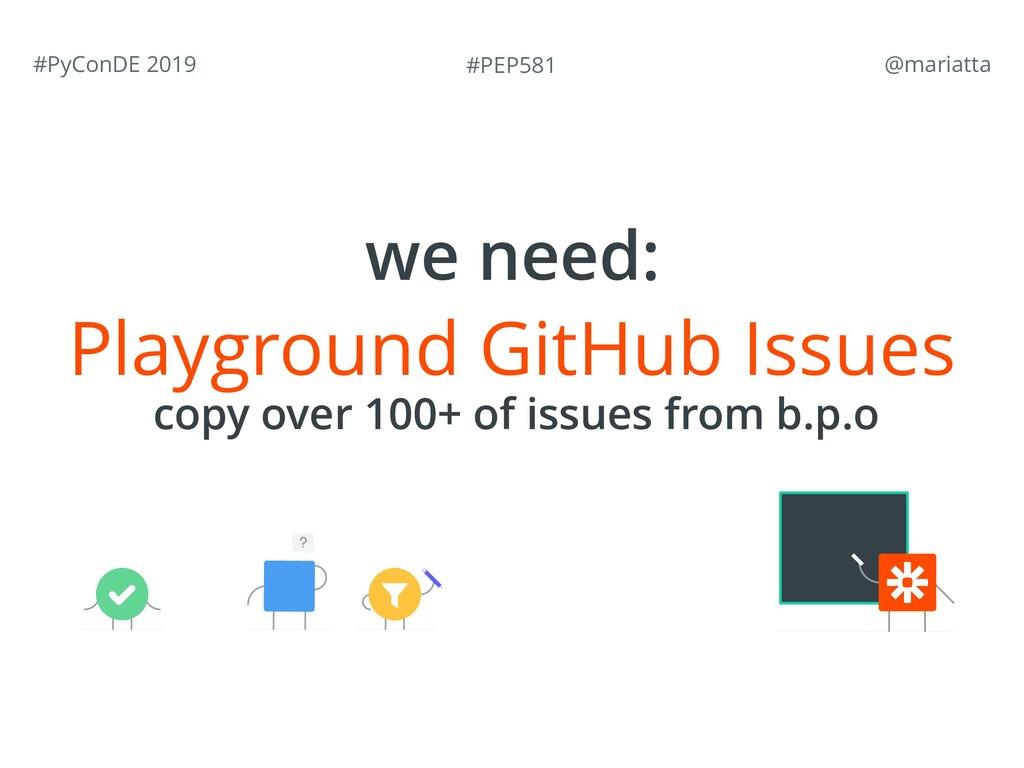 #PEP581 #PyConDE 2019 @mariatta Playground Git...