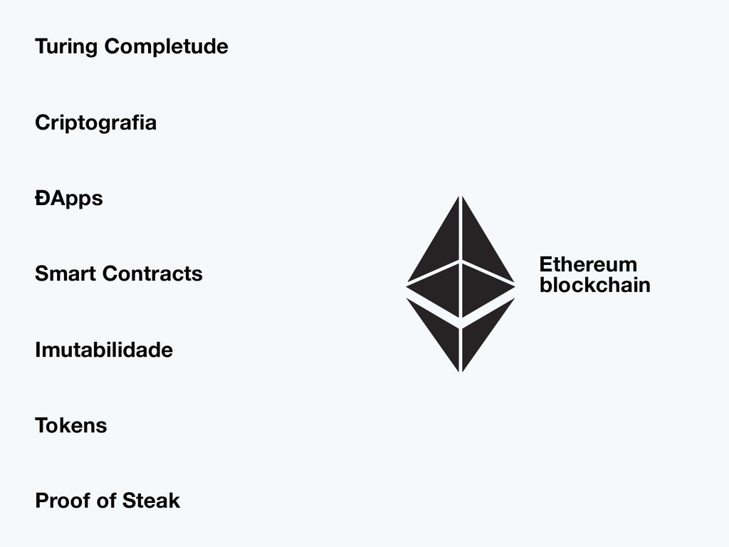 Ethereum blockchain Smart Contracts Criptografia...