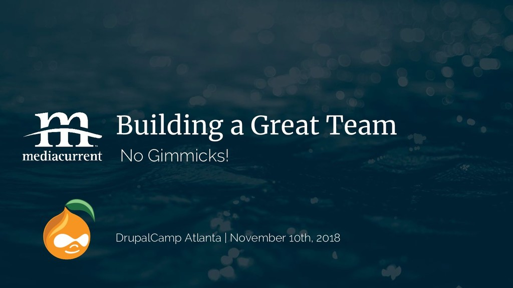 Building a Great Team No Gimmicks! DrupalCamp A...