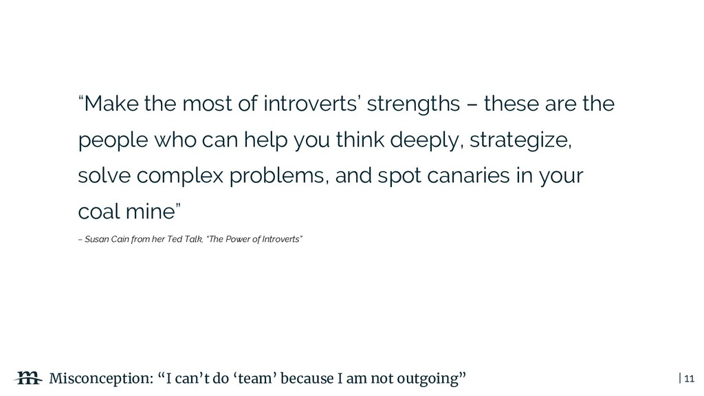 "| 11 ""Make the most of introverts' strengths – ..."