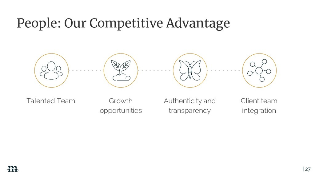 | 27 People: Our Competitive Advantage Talented...