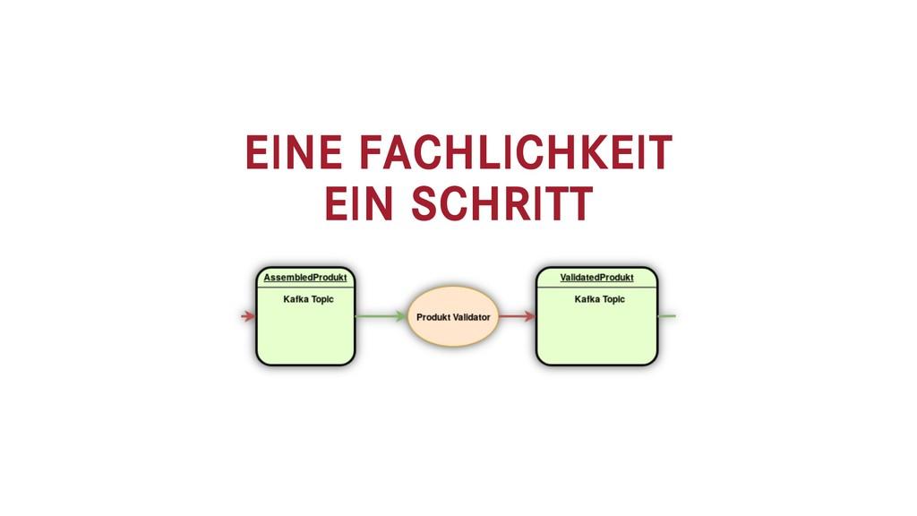 EINE FACHLICHKEIT EIN SCHRITT