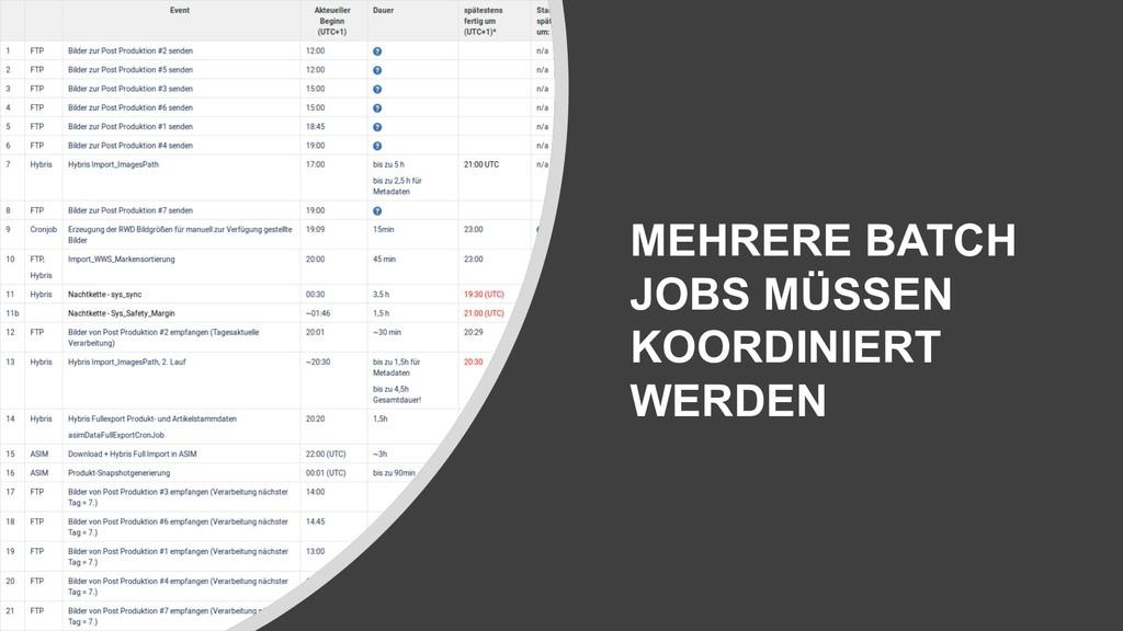 MEHRERE BATCH JOBS MÜSSEN KOORDINIERT WERDEN