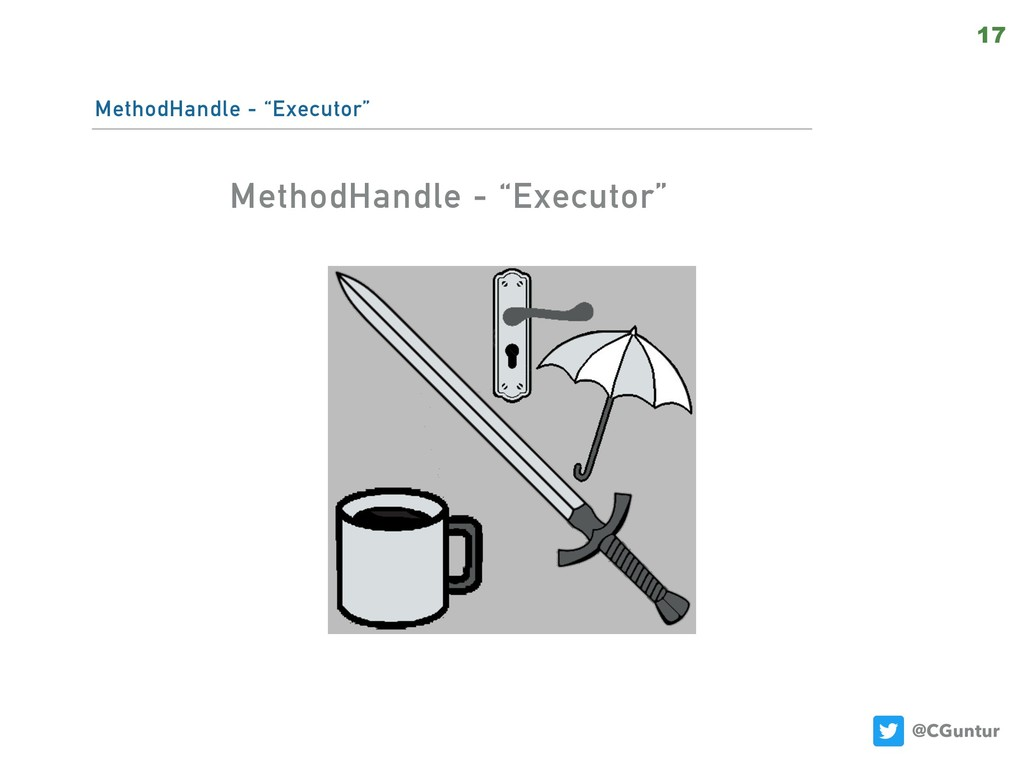 "@CGuntur MethodHandle - ""Executor"" 17 MethodHan..."