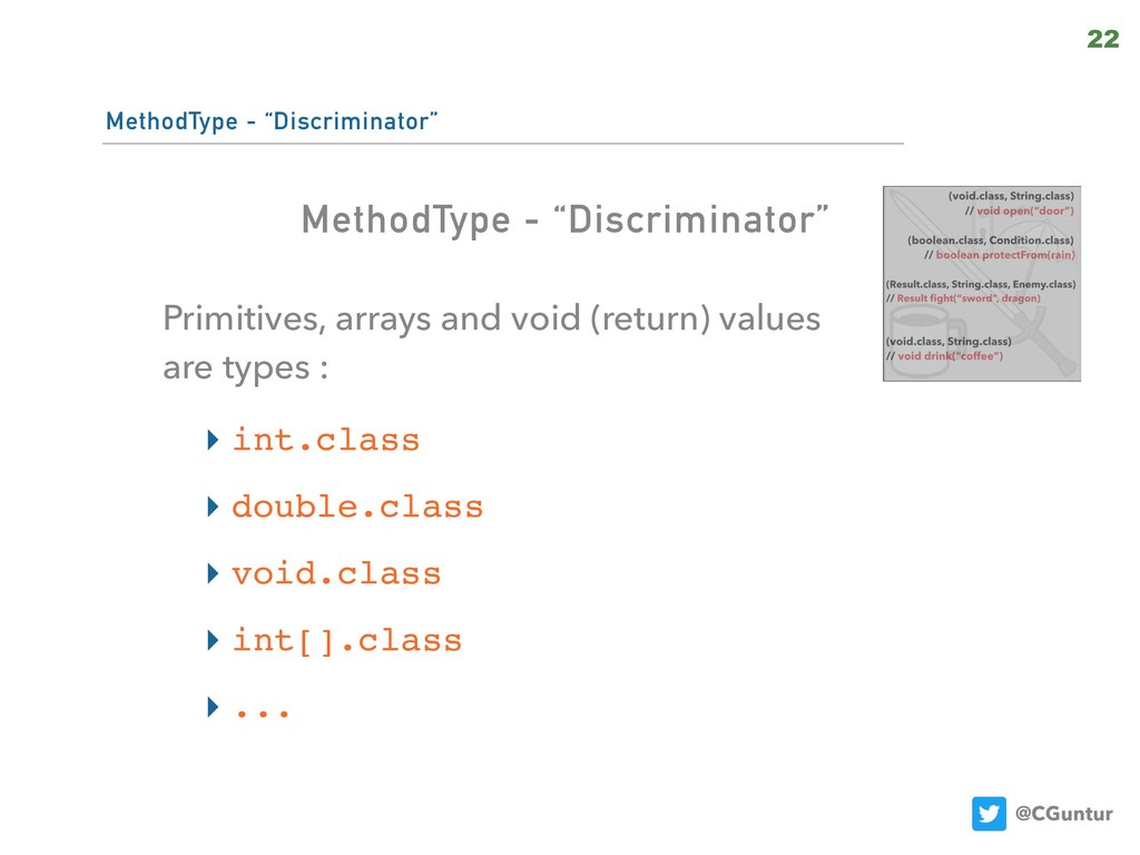 "@CGuntur MethodType - ""Discriminator"" Primitive..."