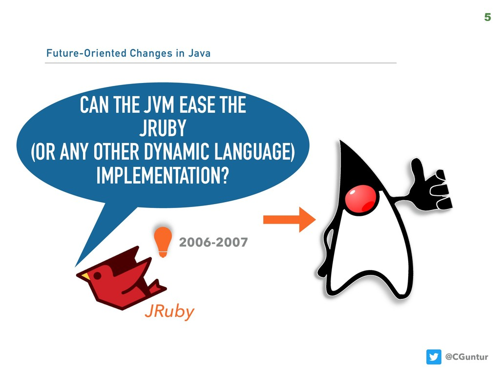 @CGuntur Future-Oriented Changes in Java 5 CAN ...