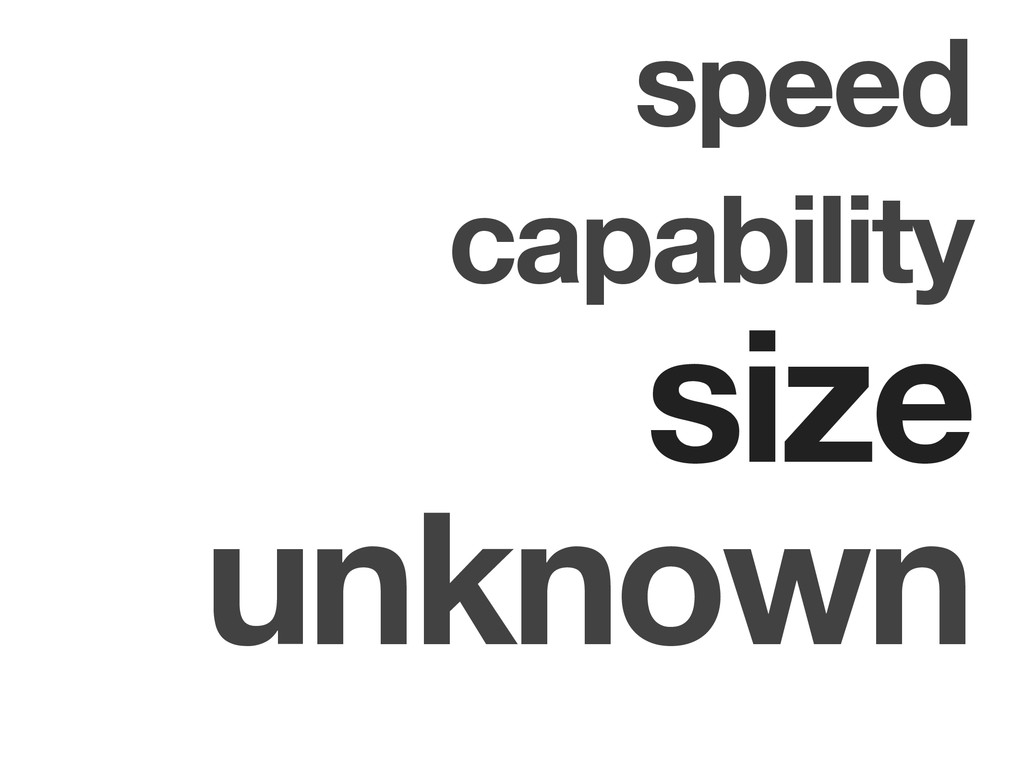 speed unknown capability size