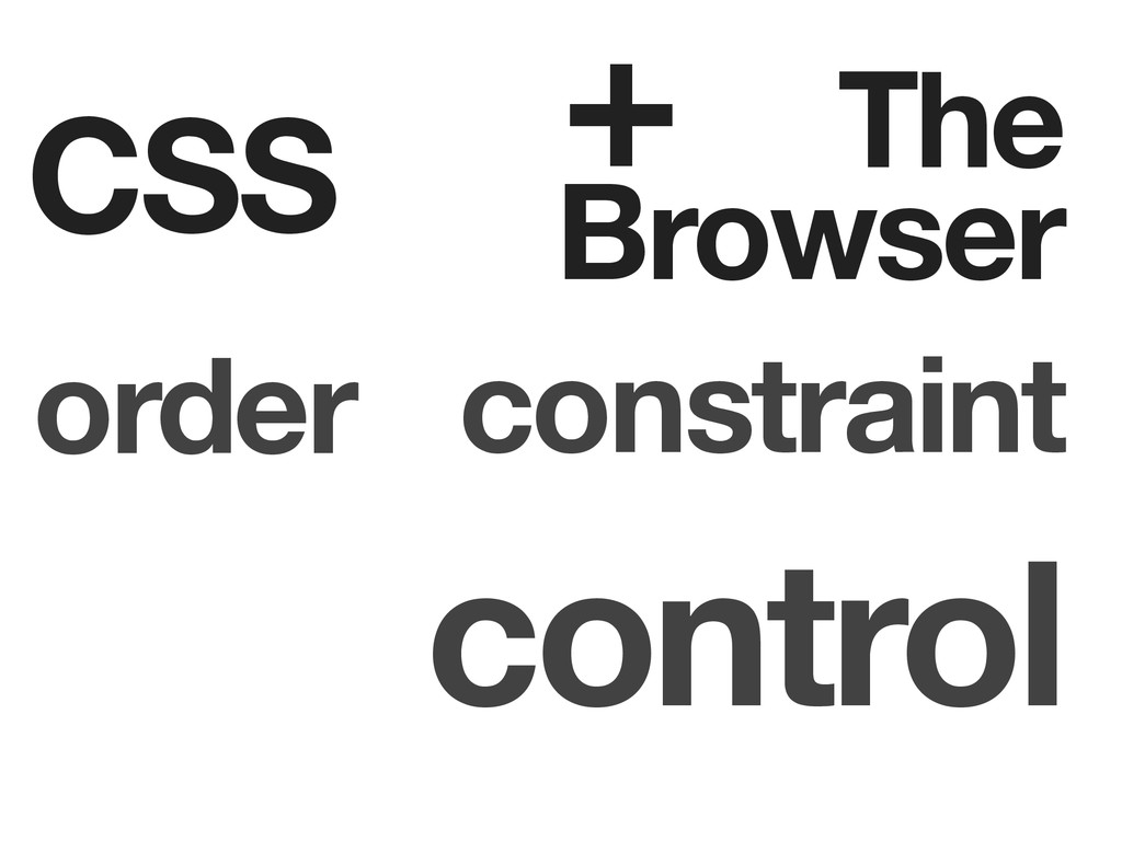 CSS The Browser order constraint control +