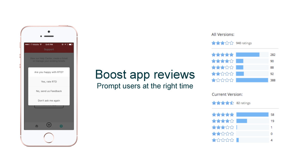 Boost app reviews Prompt users at the right time