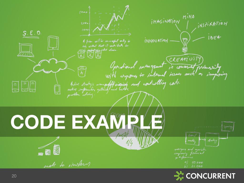 20 CODE EXAMPLE