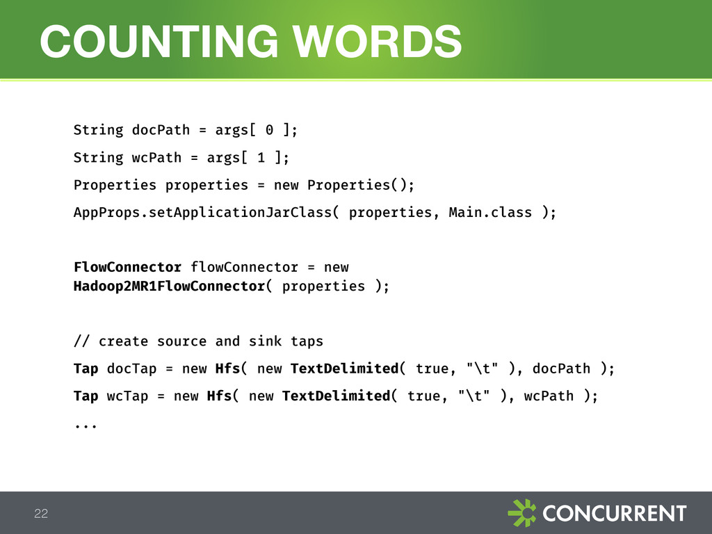 COUNTING WORDS 22 String docPath = args[ 0 ]; S...