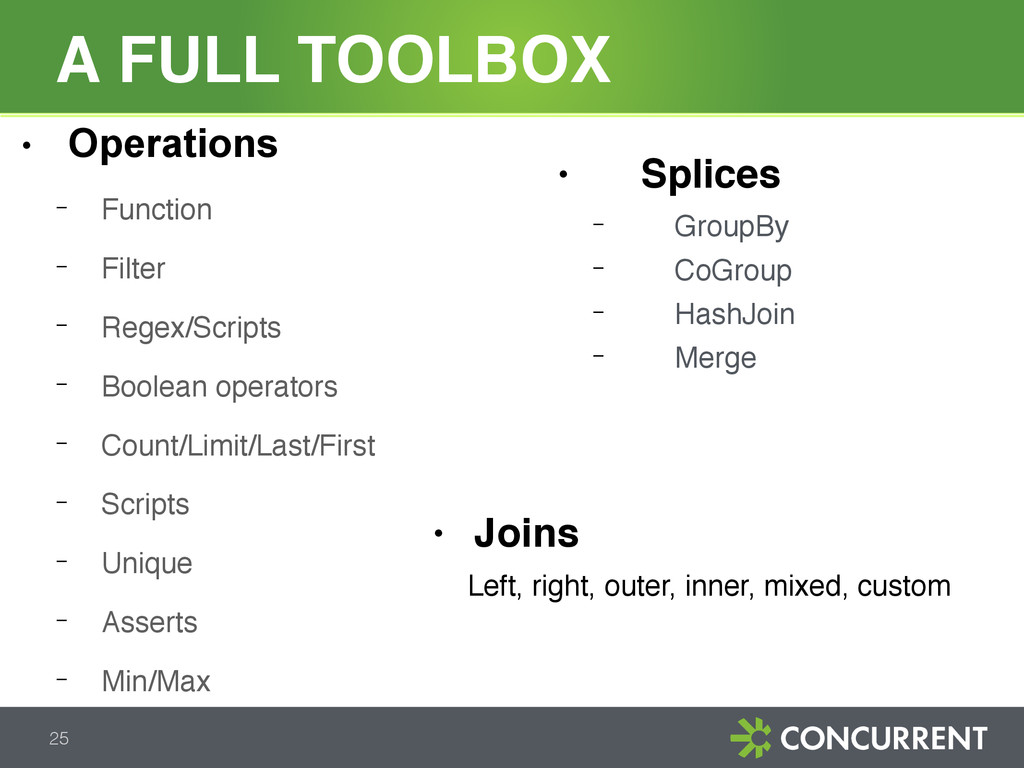 A FULL TOOLBOX 25 ● Operations − Function − Fil...