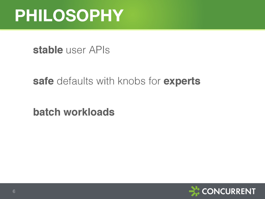 stable user APIs safe defaults with knobs for e...